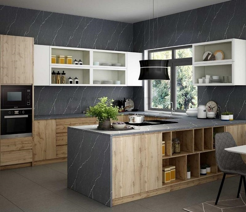 Thiết kế Tủ bếp có bàn đảo cho không gian nhà phố