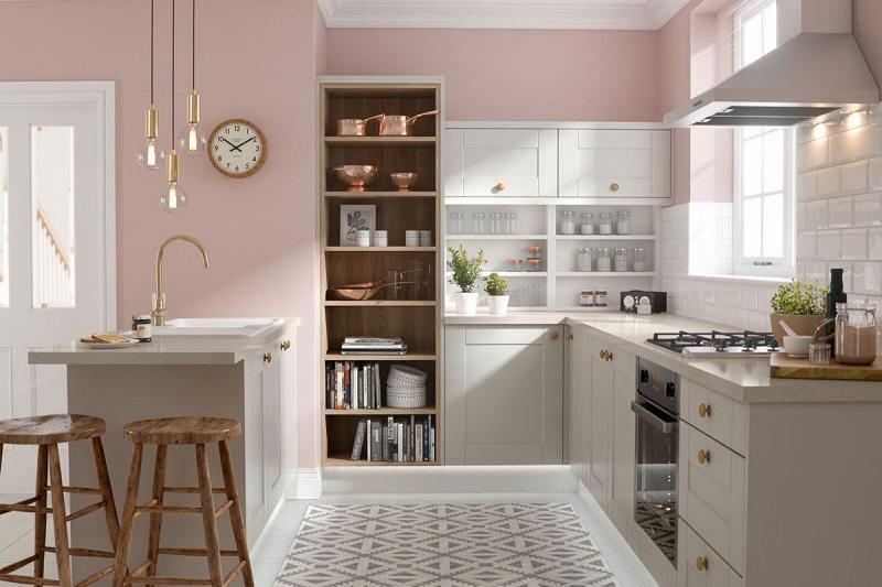 BST Tủ bếp màu trắng tinh khôi