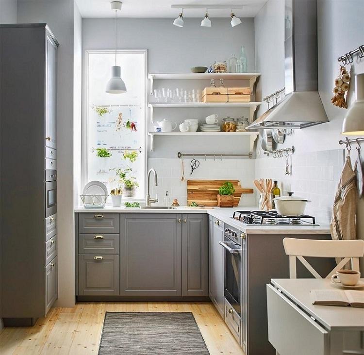 Bộ sưu tập Tủ kệ bếp bán cổ điển kết hợp hiện đại