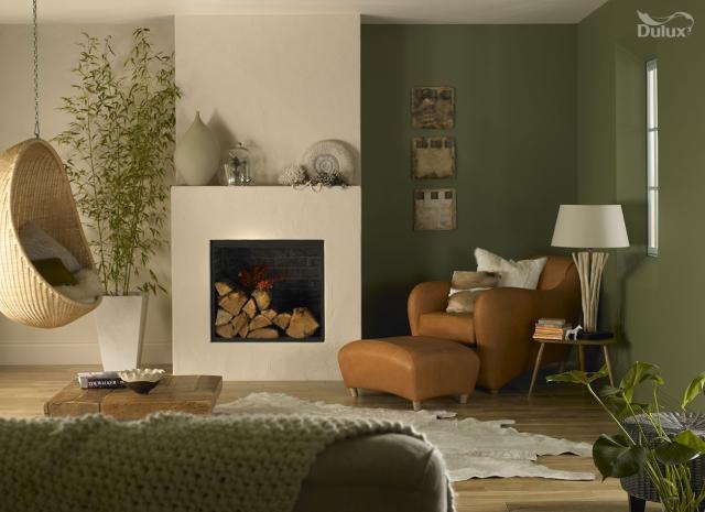 Màu xanh rêu - sự sáng tạo cho phòng đọc sách và làm việc 