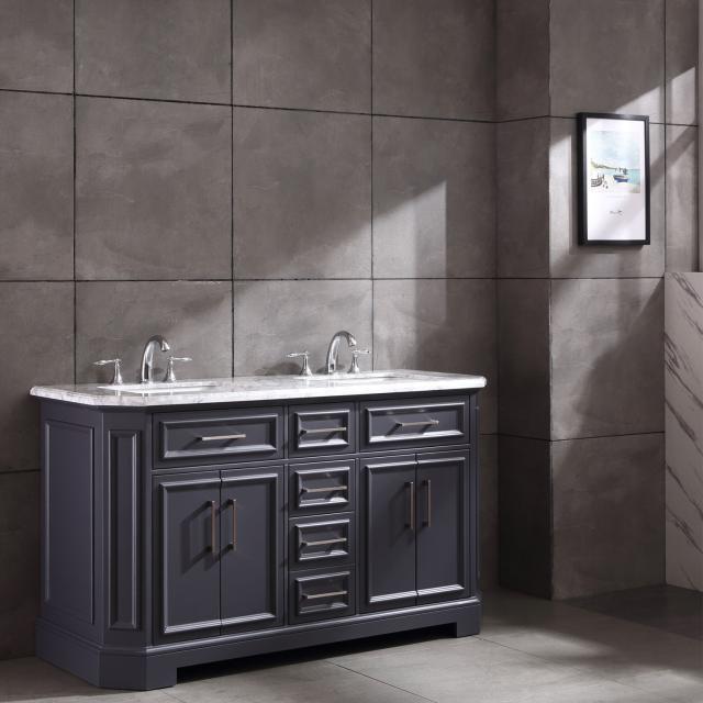 Thiết kế phòng tắm với tone màu xám hiện đại