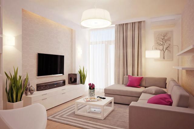 Những sắc màu trong thiết kế phòng khách hiện đại