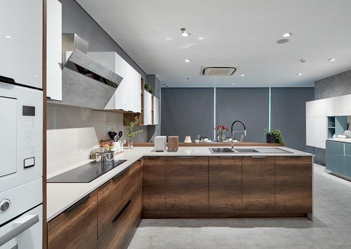 Thiết kế nội thất tủ bếp hiện đại