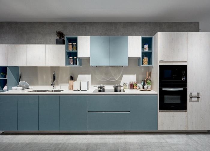 Làm mới không gian nhà bếp bằng màu sắc sang trọng