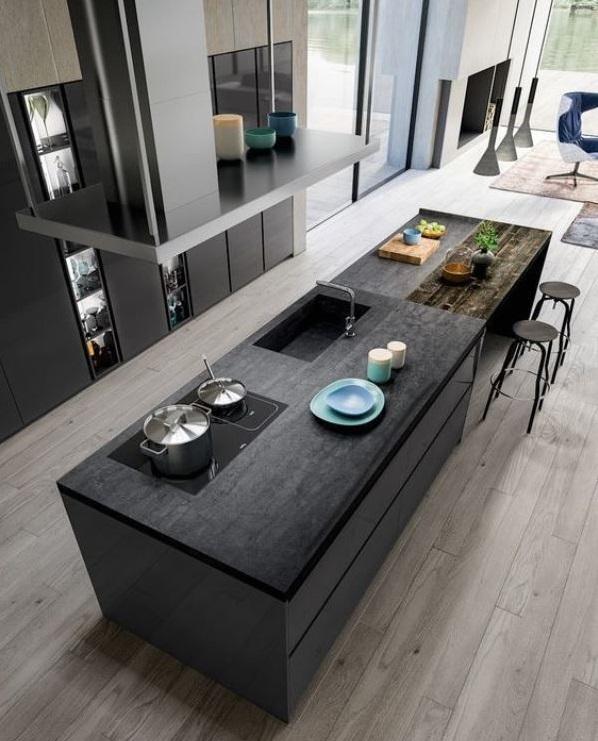 Thiết kế bàn đảo bếp theo xu hướng hiện đại