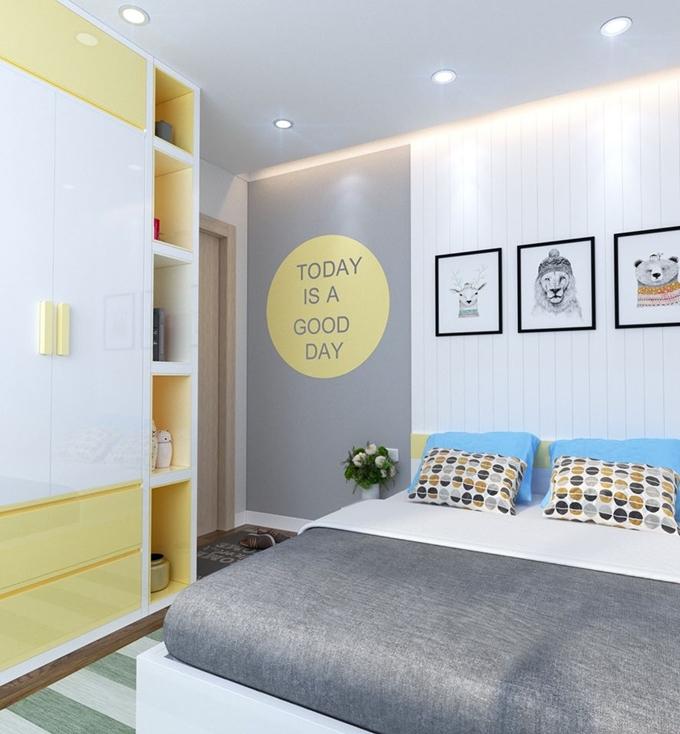 Tinh tế và độc đáo trong cách thiết kế nội thất phòng ngủ với nhiều gam màu sinh động