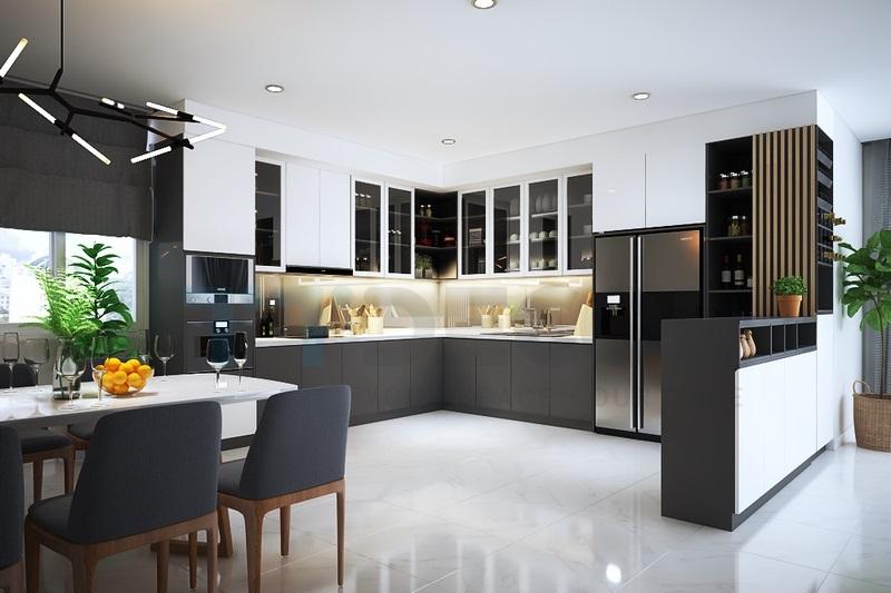 Tủ bếp Acrylic giá rẻ tại Tp.HCM