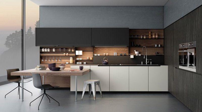 Thiết kế tủ kệ bếp modul thành 2 khối riêng biệt
