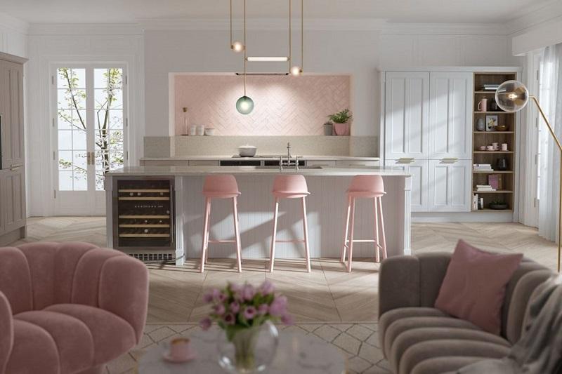 Sản xuất tủ bếp theo màu sắc yêu cầu